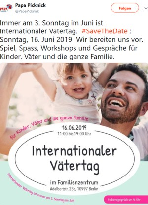Internationaler Vätertag Berlin